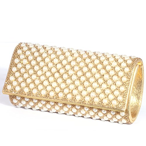 Pearl Clutch Crystal women Evening Luxury Special Bags Crystals Gold Digabi Bwg1tx