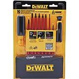 Dewalt DWHT66417 VINYL GRIP INSULATED SCREWDRIVER SET - 10 PC