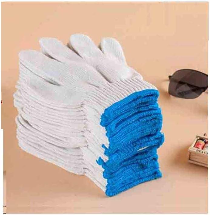 24 pares guantes de doble hilo de algodón, guantes de protección de trabajo, hilo de algodón blanco, resistente al desgaste, protección de espesor, antideslizante: Amazon.es: Bricolaje y herramientas
