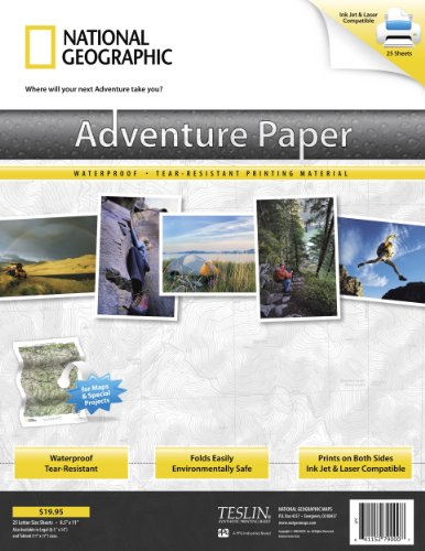 National Adventure Map Geographic Paper (Adventure Paper (letter))