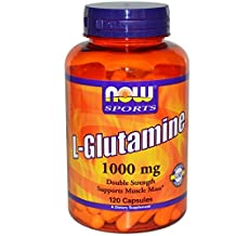 L-Glutamine by NOW - 120 capsules, 1000 mg