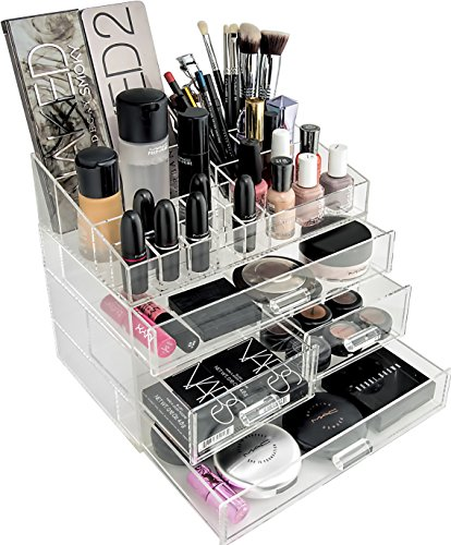 Makeup Organizer Drawers Countertop Amazoncom - Cosmetic organizer countertop