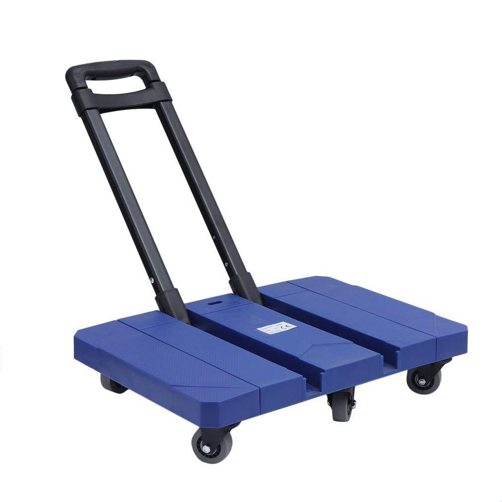 Seile Blau Blackpoolal Transportwagen Klappbar 150KG Plattformwagen Arbeitszimmer-Wagen Transportwagen Transporthilfe mit Lenkrollen Stapelkarre Einkaufwagen Klappwagen M/öbelroller inkl