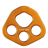 Rigging Plate,Professional Accessory Split Rope Plate Rigging Plate Bear Paw Anchor Multipliers Rope for Outdoor Rock Climbing Equipment