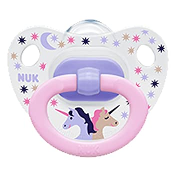 NUK Baby Pacifier Happy Days Orthodontic 18-36 Months Unicorn Girl Silicone 0525-5