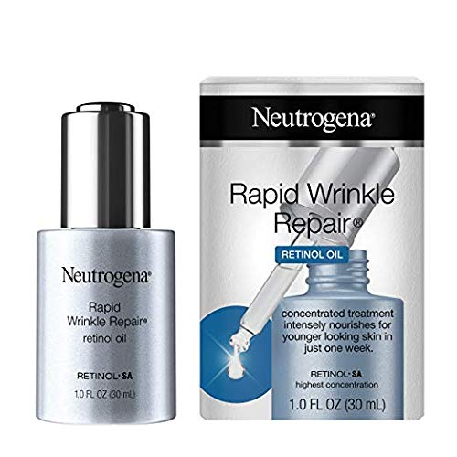 Rapid Wrinkle Repair Concentrated Retinol Oil, Lightweight Anti-wrinkle Serum for Deep Wrinkles, 1 fl oz (Pack of 2)