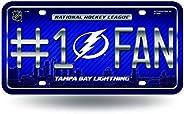 NHL #1 Fan Metal Tag License Plate