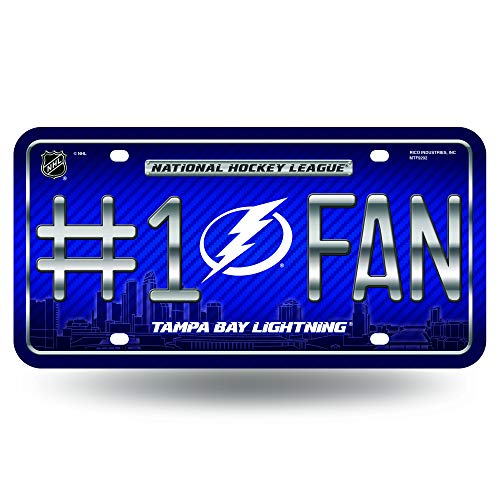 (NHL Tampa Bay Lightning #1 Fan Metal License Plate Tag)