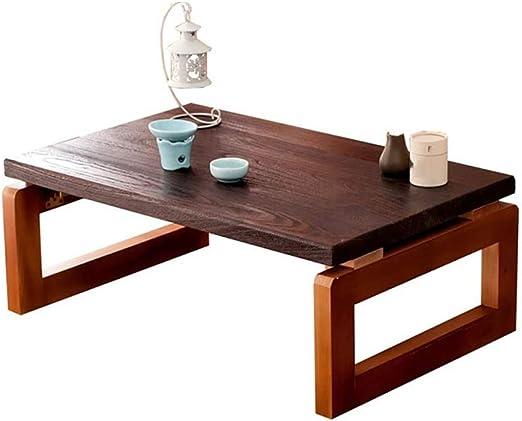 mesa plegable Mesa de Centro de Madera sólida de Tatami Mesa de ...