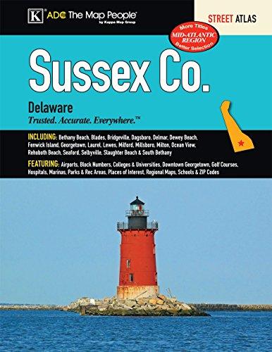 Sussex County, DE Street Atlas (Counties Map Delaware)