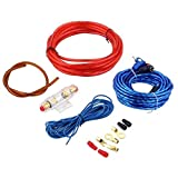 Chinatera 8GA Car Power Subwoofer Amplifier Audio Wire Cable Kit with Fuse Holder
