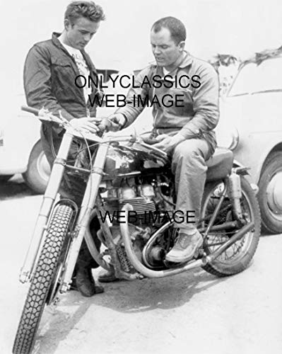 - OnlyClassics Cool Man James Dean Matchless Motorcycle Racing Candid Photo Hollywood Americana