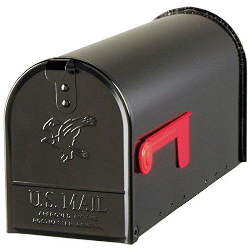 Fulton Corporation 20410574 Large Premium Steel Rural Mailbox, Black by Fulton