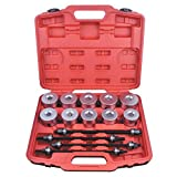 Qp-SUNROAD 24pcs Universal Press and Pull Sleeve Kit Bearing Seal Bush Insertion Sleeve Extraction Removal Tool Set w/Case