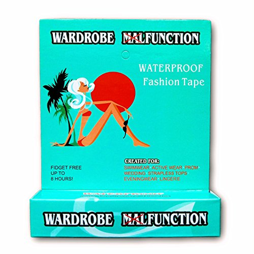 [Fashion Tape By Wardrobe Function | Waterproof Double Sided Tape For Clothes, Bra, Strapless Bra, Swimwear, Pasties, And Women's Clothes | Great Pasties | No More Nip] (Dance Costumes For Pageants)