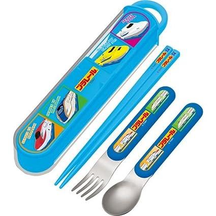 Cubiertos para bento palillos cuchara tenedor estuche tren ...