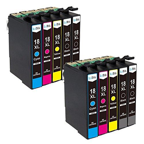 LxTek Kompatibel Tintenpatronen Ersatz für Epson 18XL 18 T1811 T1812 T1813 T1814 10 pack ( 4 Schwarz, 2 Cyan, 2 Magenta, 2 Gelb ) für Epson Expression Home XP-102 XP-202 XP-205 XP-212 XP-215 XP-225 XP-30 XP-33 XP-302 XP-305 XP-312 XP-315 XP-322 XP-325 XP-402 XP-405 XP-405WH XP-412 XP-415 XP-422 XP-425 Drucker