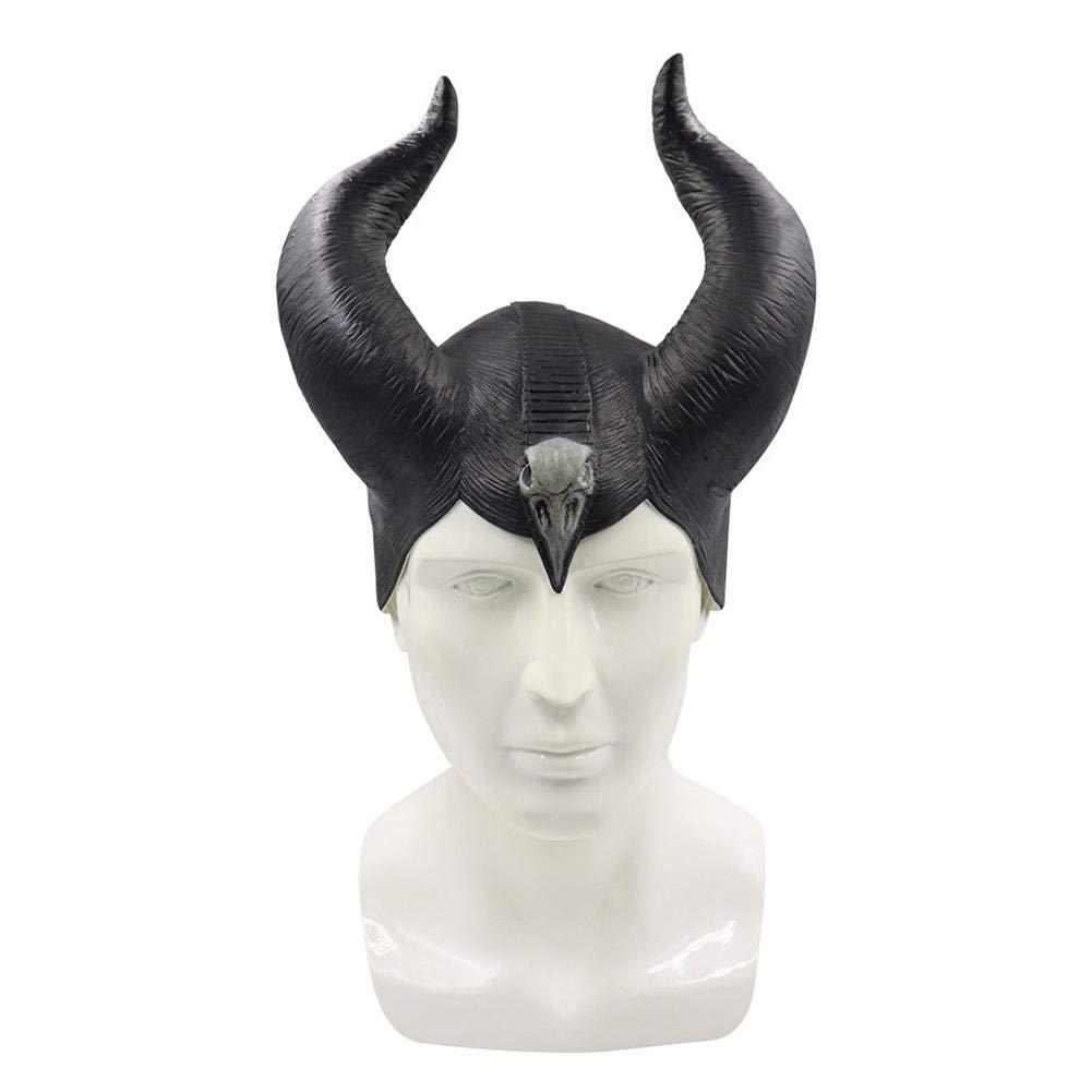 Blue-Yan Máscara de Halloween, Arnés de la Reina Cuerno Máscara de ...