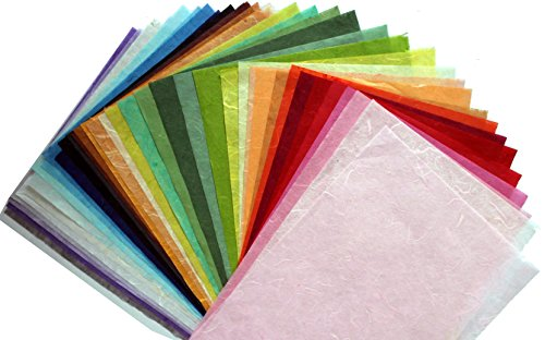 8.5 x11in Thin Mulberry Paper 35 Sheet Design Craft Hand Made Art Tissue Japan Origami Washi Wholesale Bulk Sale Unryu Suppliers Thailand Products Car…