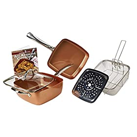 Tristar Products Inc KC15056-09000 Cookware Sel, 10 Pieces, Copper