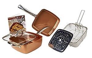 Amazon Com Copper Chef 5 Piece Cookware Set Kitchen Amp Dining
