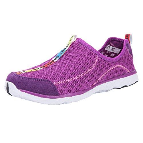 Adituo Damesschoenen Voor Heren - Perfect Voor Aqua Watersport - Mesh Sneldrogend - Lichtgewicht, Comfortabel En Ademend Paars