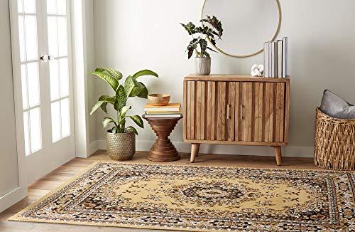Home Dynamix Sand - Home Dynamix Premium Sakarya Traditional Area Rug, Oriental Tan 9'2