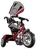 Kiddo Red 4-in-1 Childrens Tricycle Kids Trike 3 Wheel Bike Parent Toddler Trike - Red