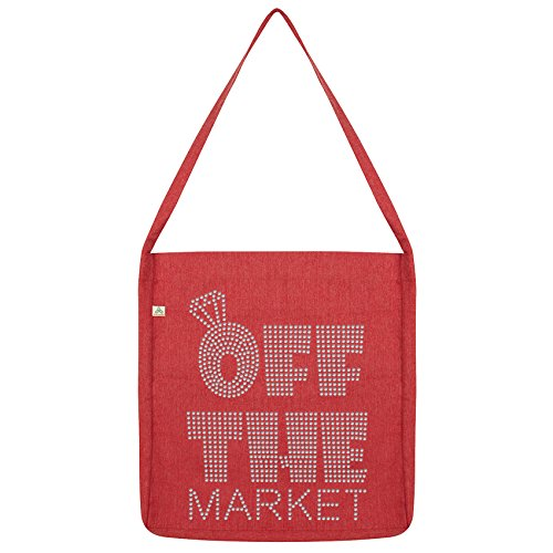 Diamante Rhinestone Twisted Market Envy Tote The Bag Off Red zOIIXxqwB