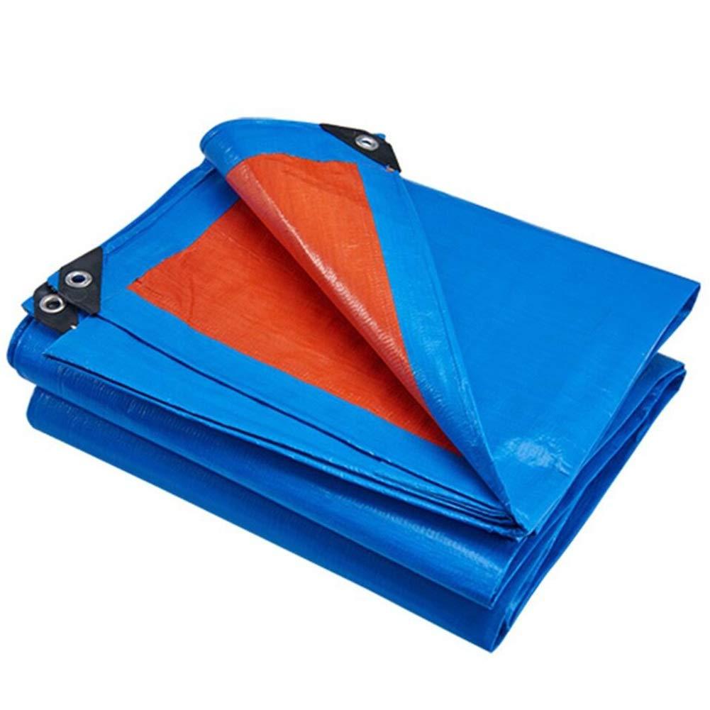 YANZHEN ターポリンタープ両面防雨 無臭 折りたたみ式 涙に強い 車 テント シェード PEコート布 複数のサイズ (色 : Blue+orange, サイズ さいず : 7.8X11.8M) B07QX712TG Blue+orange 7.8X11.8M