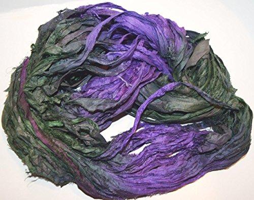 Olive Green Silk Sari - 2