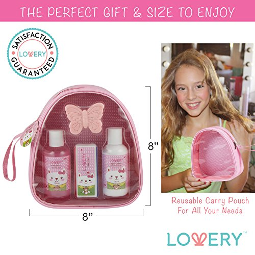 Bathroom Set In A Bag: Easter Holiday Girls Gift Set, Kids Bubble Bath Spa Bag