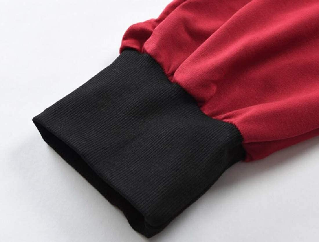 MOUTEN Men Elastic Waist Basic Jogger Gym Color Block Capri Pants