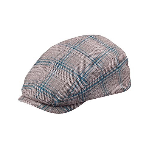 Wholesale Fashion Plaid Ivy /Flat /Scally / Driving Caps (Blue Plaid, Size Small) - 21615 (Hats For Wholesale)