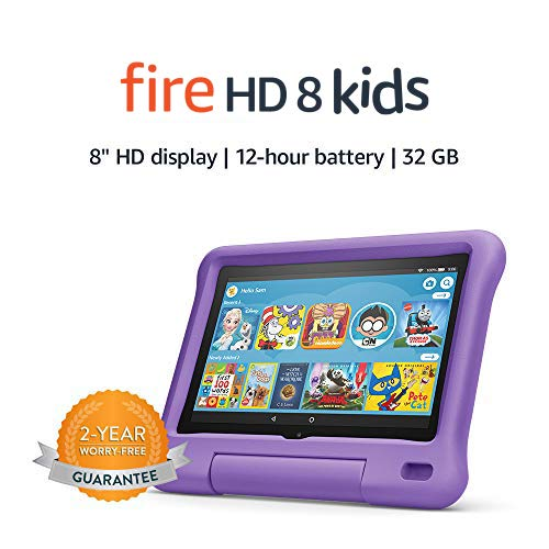 "Fire HD 8 Kids tablet, 8"" HD display, 32 GB, Purple..."