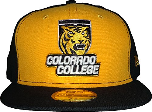 New Era Colorado College Tigers NCAA 2 Way 59FIFTY Fitted Cap Hat (7 5/8, Black-Yellow) ()