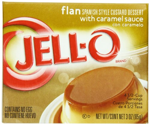Jell-O Flan, 3-Ounce Boxes (Pack of 18) ()