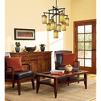 "Sedona Collection 32 1/2"" Wide 9-Light Art Glass Chandelier - Robert Louis Tiffany"