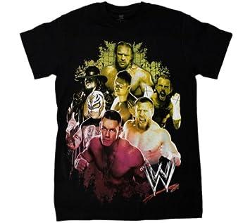 WWE TOP STARS - lucha libre WWE camiseta - TAMAÑO MEDIANO ADULTO: Amazon.es: Deportes y aire libre