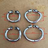 AdanHB Ergonomic Stainless Steel Stealth Lock Male Chastity Device,Cock Cage,Fetish Virginity Penis Lock,Cock Ring,Chastity Belt,S061 1pcs