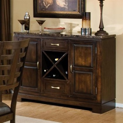 Standard Furniture 16842 Bella Server with Marbella Top in Deep