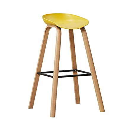 Nordic Solid Wood Bar Chair Modern Minimalist Creative Bar Chair Front Backrest High Bar Stool Home Bar Chair Furniture Bar Chairs