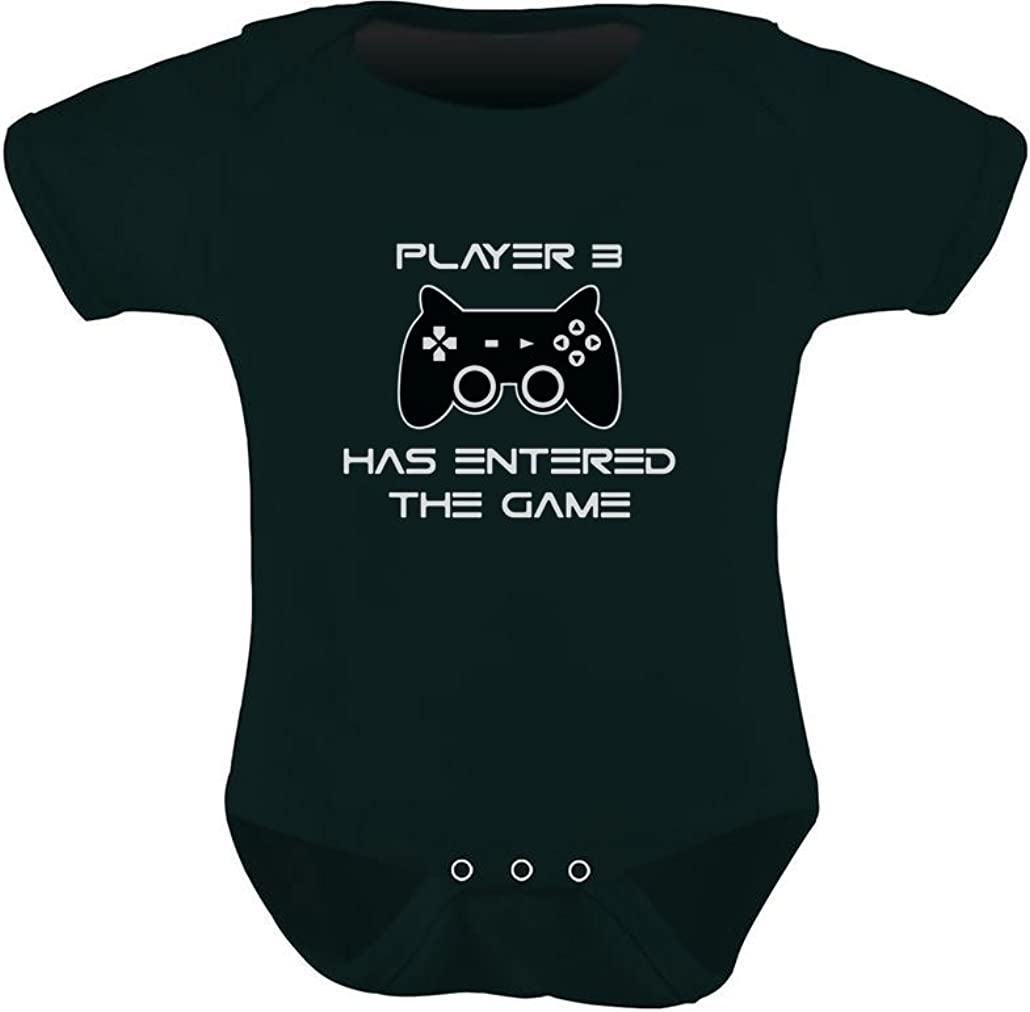 Player 3 Has Entered The Game Gift 3rd Child Gamer Baby Bodysuit