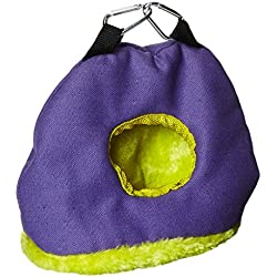 Prevue Pet Products BPV1167 Snuggle Sack Bird Nest with 2-Inch Opening, Small, Colors May Vary