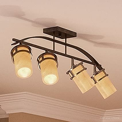 factory authentic df14a 130b6 Amazon.com: Urban Ambiance Luxury Rustic Track Lighting ...