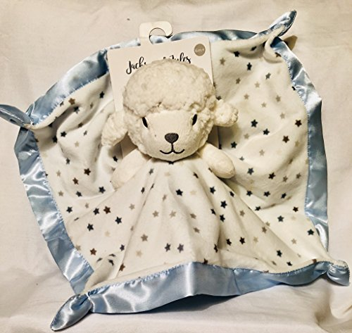 Jacks and Jules Lamb Blue Stars Security Blanket
