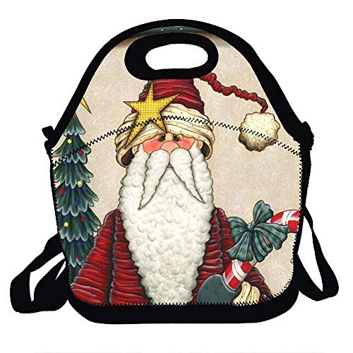 - Amuseds Funny santa claus illustration Lunch Tote Lunch Bag School