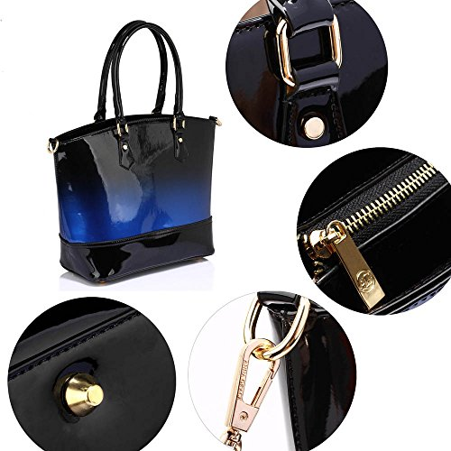TrendStar - Bolsa Mujer Azul - Navy Two Tone Handbag