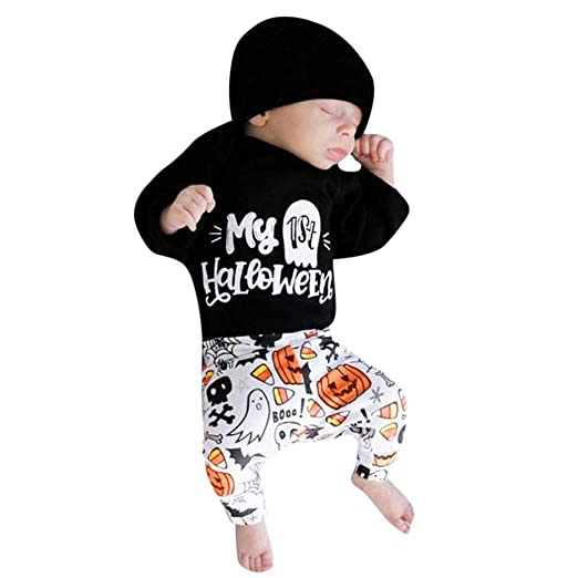 3dcec4a4b Amazon.com  Newborn Infant Baby Girl Boy Halloween Clothes Outfit ...