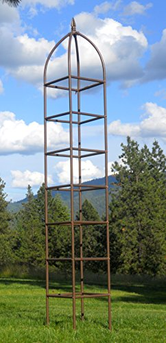 Obelisk Iron (H Potter Trellis Large Obelisk For Climbing Garden Plants Weather Resistant Iron and Metal Vertical Yard Art)